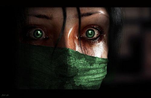 دختر سبز